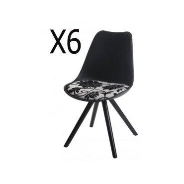 Lot de 6 chaises de salle à manger en polyuréthane siège