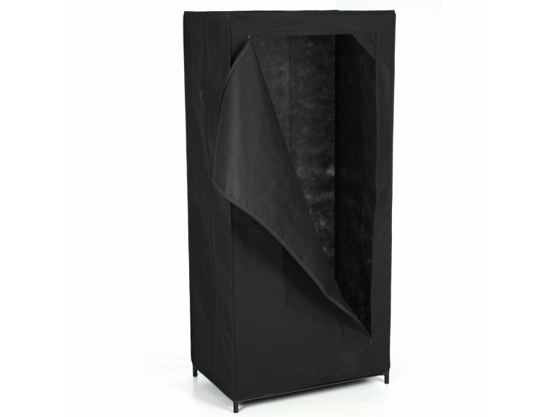 armoire penderie housse en tissu 70 x h 148 cm. Black Bedroom Furniture Sets. Home Design Ideas