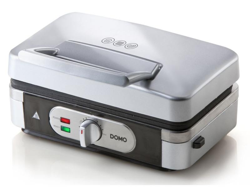 Croque-gaufre-grill 3en1 1000w argent/noir - do9136c do9136c