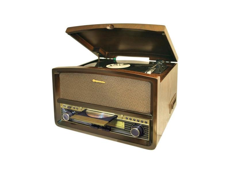 roadstar hif 1937tumpk chaine hifi vintage avec platine disque lecteur cd mp3 cassette et usb