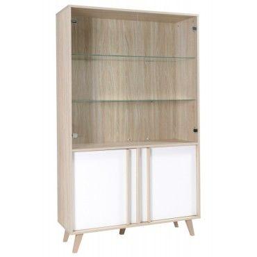 vitrine vaisselier argentier malmo grand mod le led meuble type scandinave id al pour votre