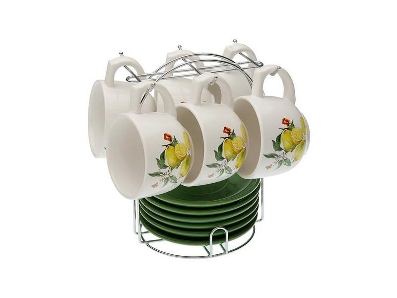 Tasses et thermos moderne ensemble de tasses à café porcelaine (220 ml) (6 pièces)