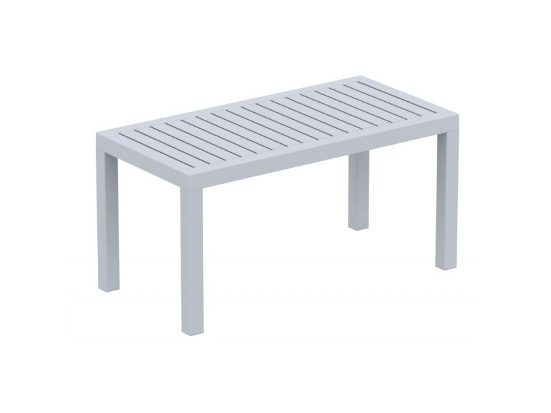 Table de jardin en plastique gris résistante aux intempéries ...