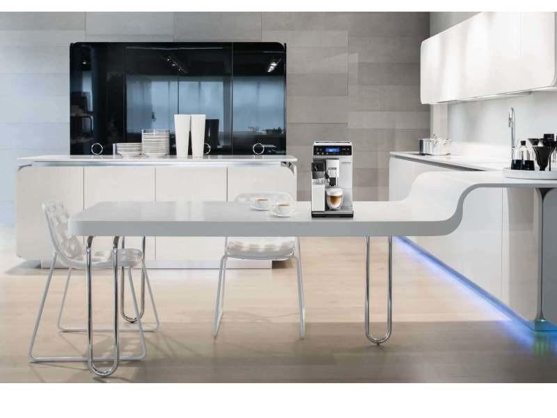 Machine à expresso avec écran et broyeur pour café en grains et moulu 1450w noir gris
