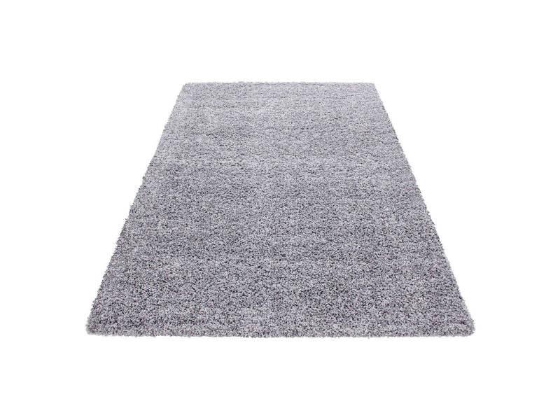 Bobochic tapis shaggy vita gris clair 160x230