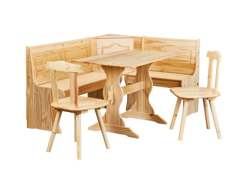 Coin Repas Table Rectangulaire Chaise Banc Banquette Meuble Bois