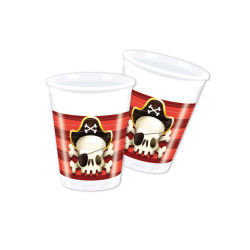 Lot de 8 gobelets powerful pirates