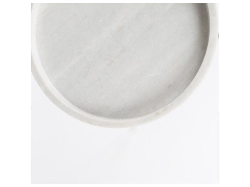 d'appoint Table couleur marbre blanc poli karrara zuiver PkuOXZi