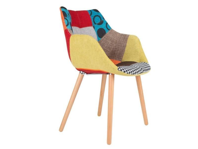 zuiver fauteuil twelve patchwork 20100829112 conforama. Black Bedroom Furniture Sets. Home Design Ideas