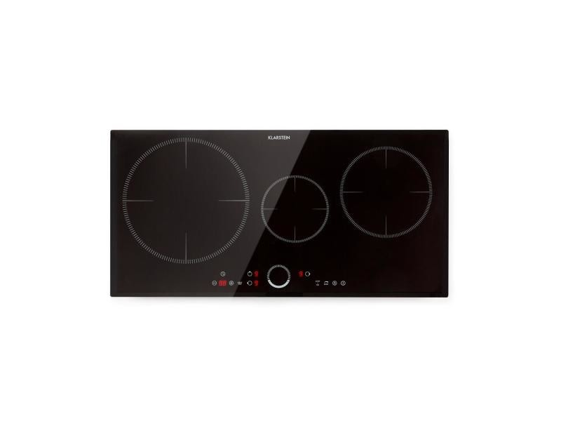Klarstein delicatessa 80 flex table à induction encastrable - 3 zones 7000w max. - vitrocéramique - noir CP4-Delicatessa-80