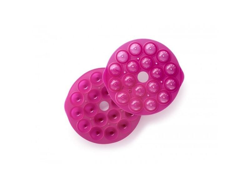 Moule à pop cakes (x18) rose en silicone lékué