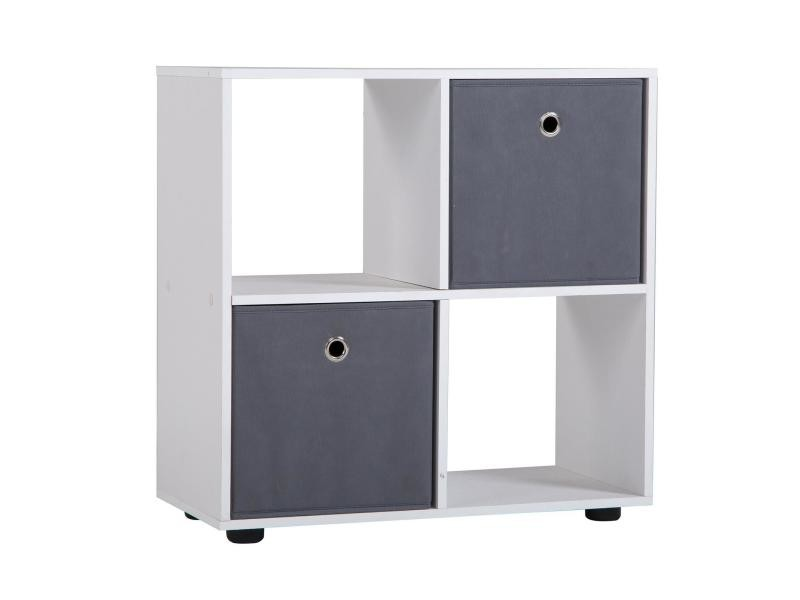 etag re cuatro cube de rangement avec 4 casiers m lamin blanc mat vente de buffet bahut. Black Bedroom Furniture Sets. Home Design Ideas