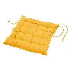 Coussin de chaise assise matelassé 40 x 40 cm jaune