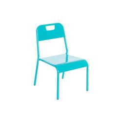 Chaise lagon bleu pour enfants en métal