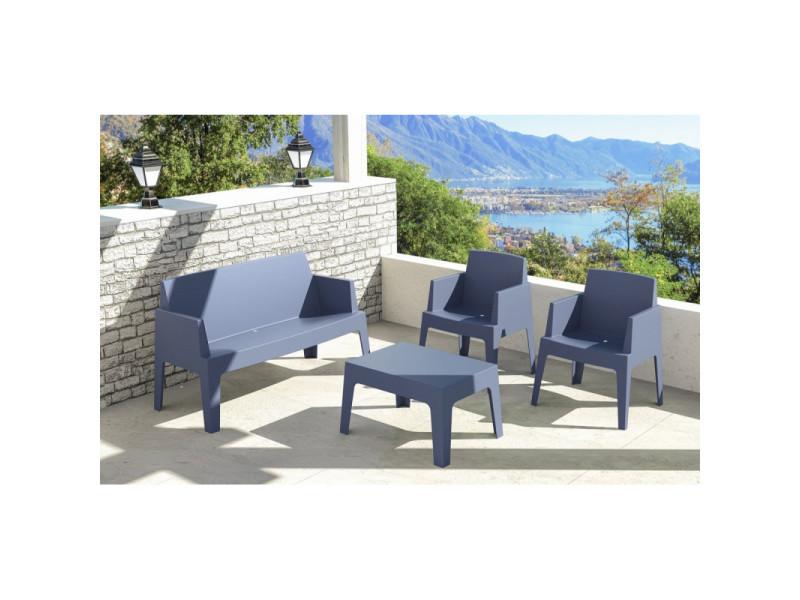 Canapé sofa modèle box en polypropylène - plusieurs couleurs - gris