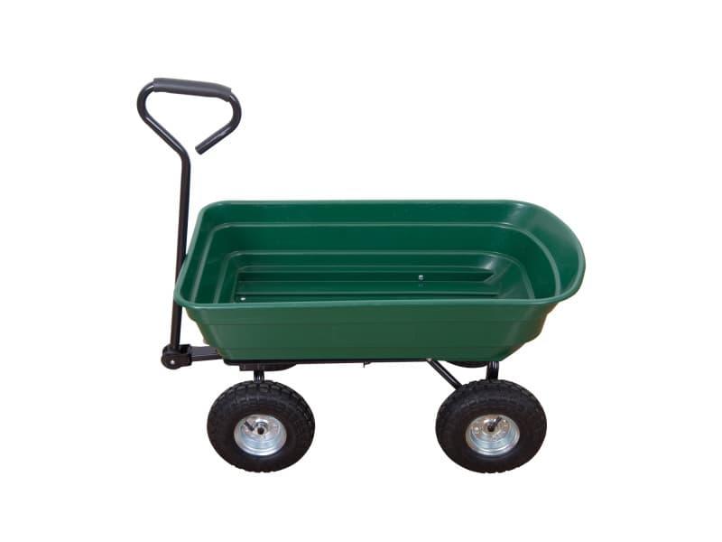 2 en 1 chariot de jardin à main et remorque benne basculante charge ...