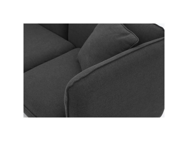 isko canap scandinave 3 places gris anthracite pouf vente de canap droit conforama. Black Bedroom Furniture Sets. Home Design Ideas