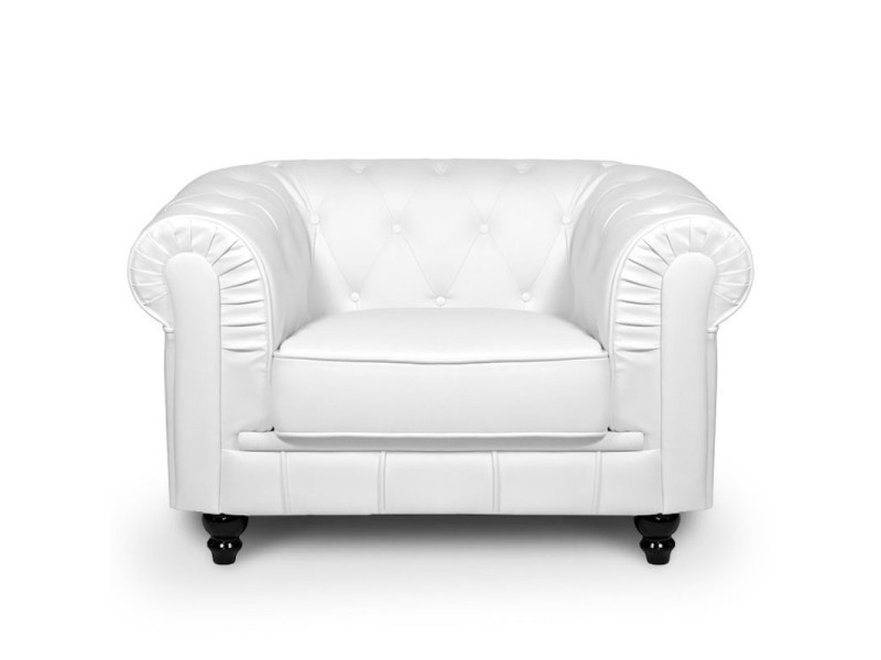 Chesterfield - fauteuil chesterfield blanc