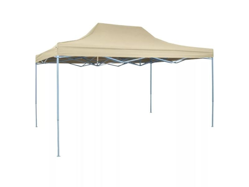Inedit structures extérieures reference islamabad tente pliable 3 x 4,5 m blanc crème