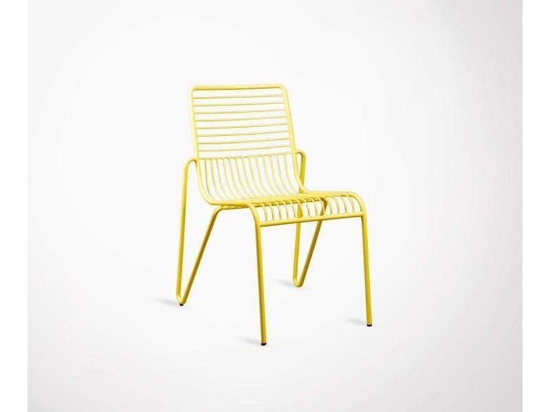 Chaise Design Metal Couleur Steeve
