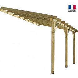 Jardipolys - auvent en bois 1 pan non-couvert 12 m2 - abt4230