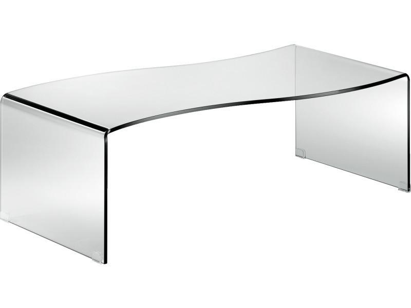 Table basse en verre trempé, 120x60x38cm -pegane-