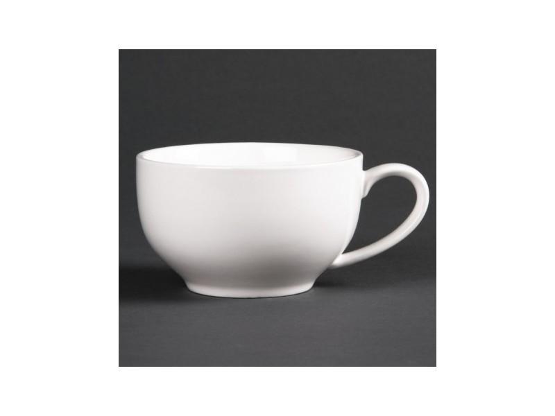 Tasses 350ml rondes basses lumina - boite de 6 - 0 cm porcelaine 35 cl