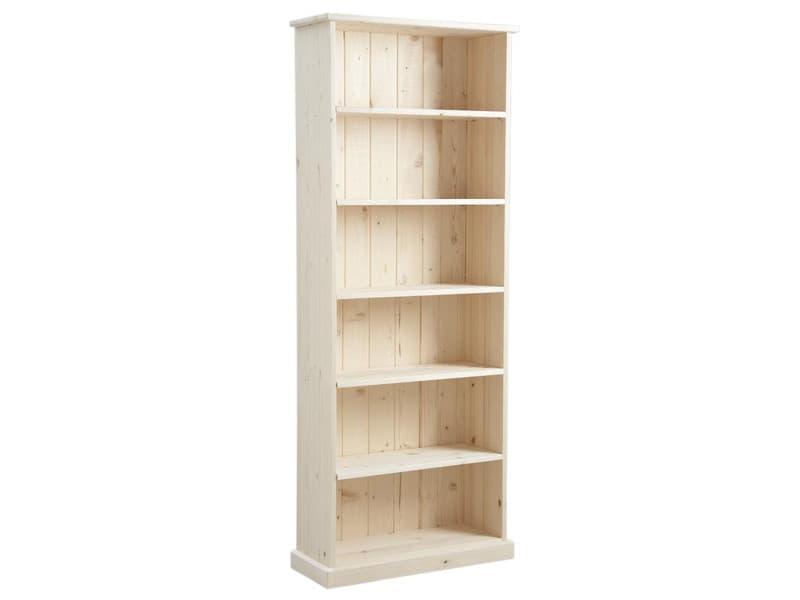 Etagère en bois brut avec 5 tablettes - dim : 71 x 26 x 180 cm -pegane-