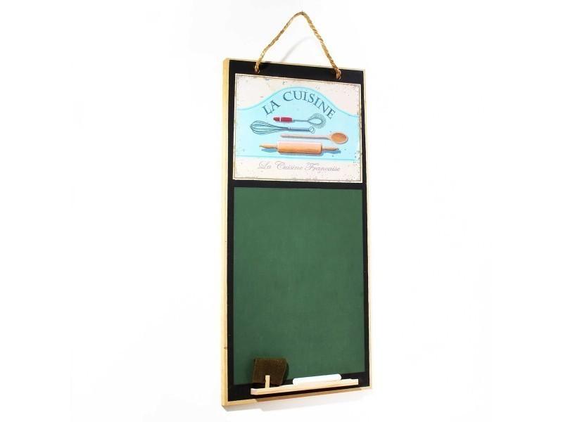 Tableau à craie modèle la cuisine vert mdf 26.5 x 58 x 1 cm