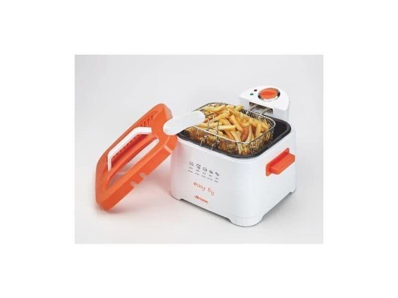 Friteuse électrique de 2,5l 2000w orange blanc