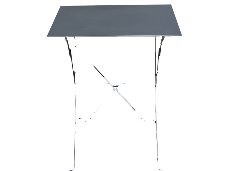 Table de jardin pliante carrée coloris gris - dim : 60 x 60 ...