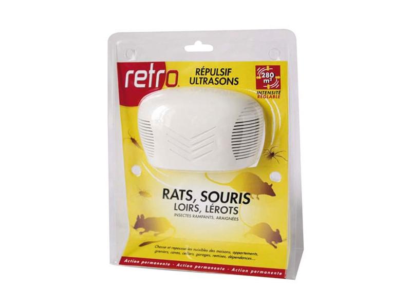 Répulsif ultrasons rats souris loirs lérots 280m2 - rus3 rus3