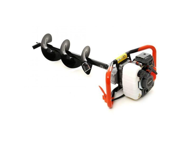 Dcraft - tarière thermique - puissance moteur 4,41 kw - vitesse max 800rpm - interrupteur de sécurité - gris