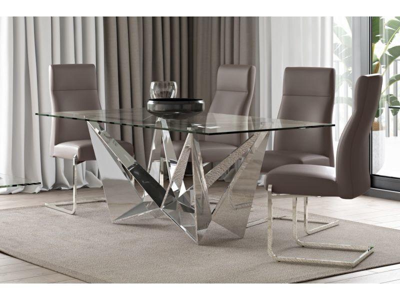 Table à manger rectangulaire design 200 cm x 100 cm x 75 cm
