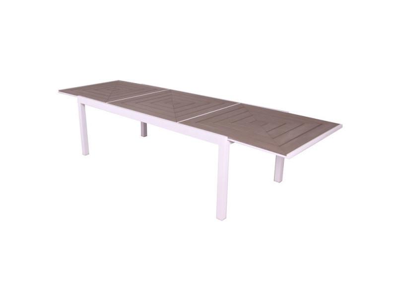 Table de jardin en composite beige lamia - Vente de Salon de ...