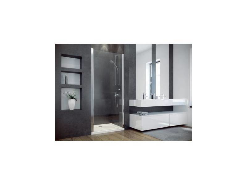 porte de douche battante cirko ii 80 90 x195 cm vente de azura home design conforama. Black Bedroom Furniture Sets. Home Design Ideas