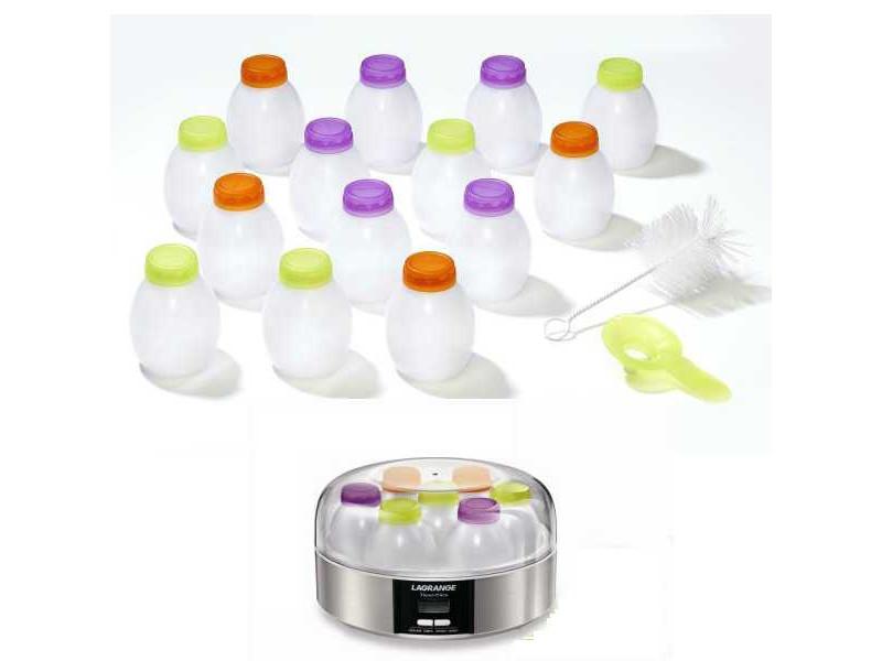 Lot de 14 pots pour yaourts à boire lagrange 430201 430201