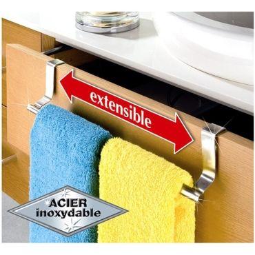 Porte serviettes acier extensible pour porte vente de porte serviette conforama - Porte serviette salle de bain conforama ...
