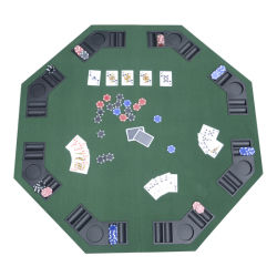 Table plateau de poker casino octogonal pliable pour 8 joueurs 120cm 01