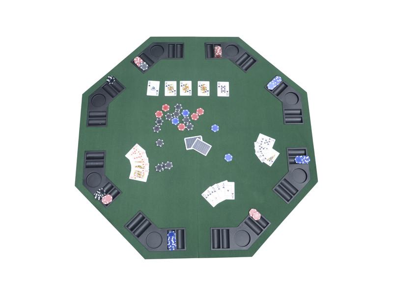 Table plateau de poker casino octogonal pliable pour 8 ...