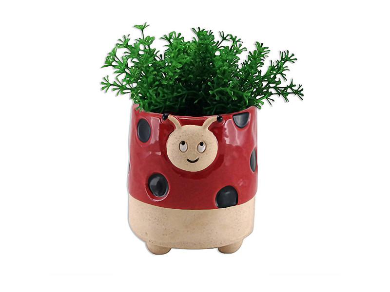 Cache pot de fleurs - coccinelle