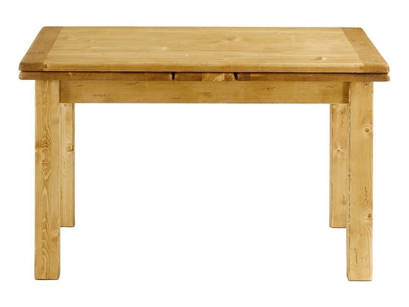 Table pin massif 120 cm avec allonges 50 cm oregon