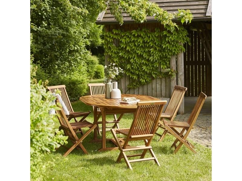 Salon de jardin en bois de teck 6 à 8 places - Vente de ...