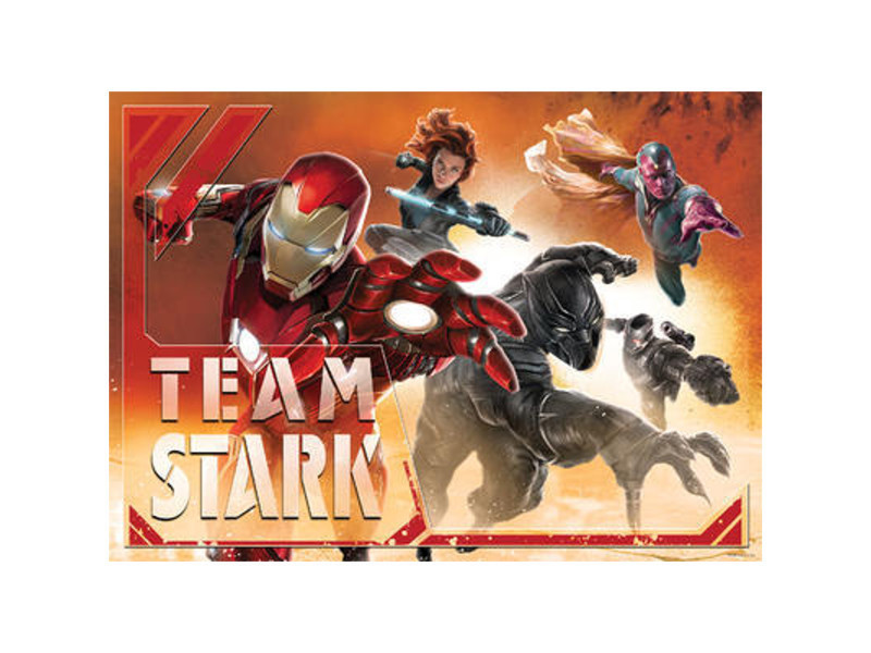 Papier peint m iron man team marvel 160 x 115 cm