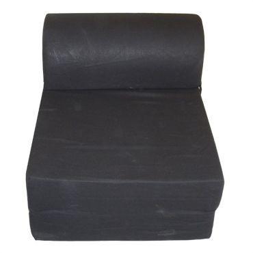 Chauffeuse convertible Tissu Noir 75 x 58 x 48 cm