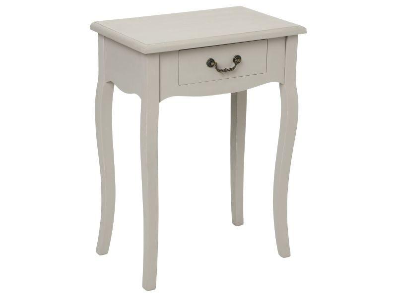 Table de chev t chrysa h 65 cm taupe vente de - Table de chevet taupe ...