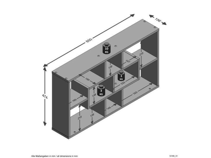 Etagere murale - echelle etagere lasse etagere murale - 85 x 47,5 x 16 cm - chene sable