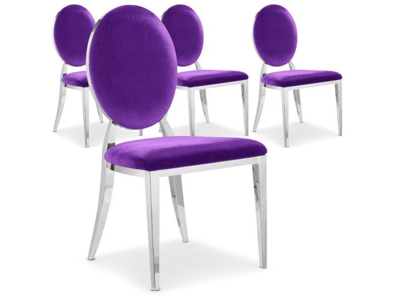 Chaise violette conforama interesting chaise noir for Chaise violette conforama