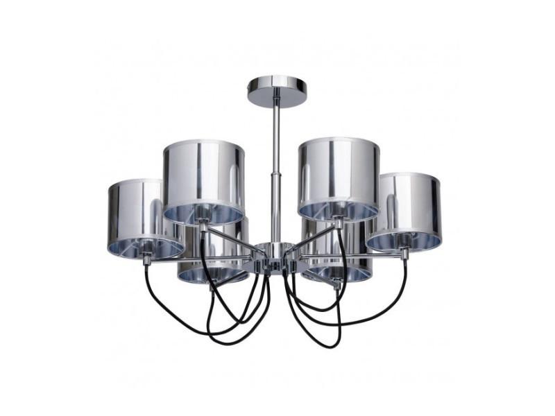 6 Ampoules Suspension 50 Vente Cm Chromée Megapolis De Luminaire 3R4AjL5