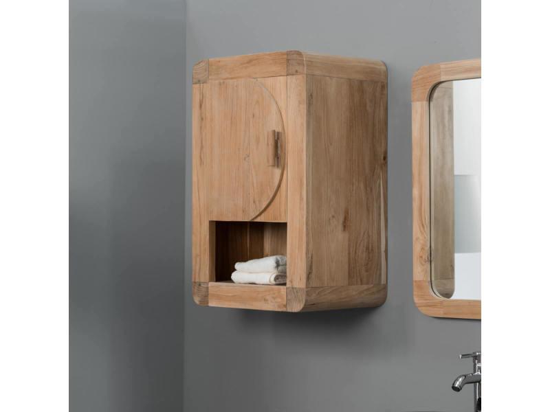meuble de salle de bain armoire de toilette en teck r tro 44cm 31043c vente de armoire. Black Bedroom Furniture Sets. Home Design Ideas